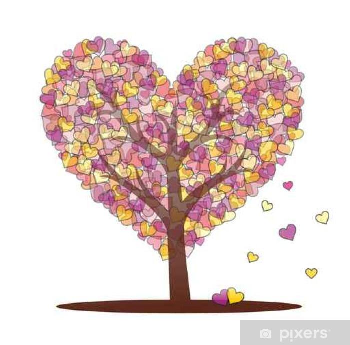 Plakat Drzewo z serca - Zasoby graficzne