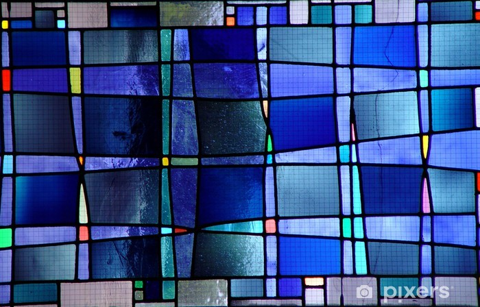 modern stained glass window Vinyl Wall Mural - America