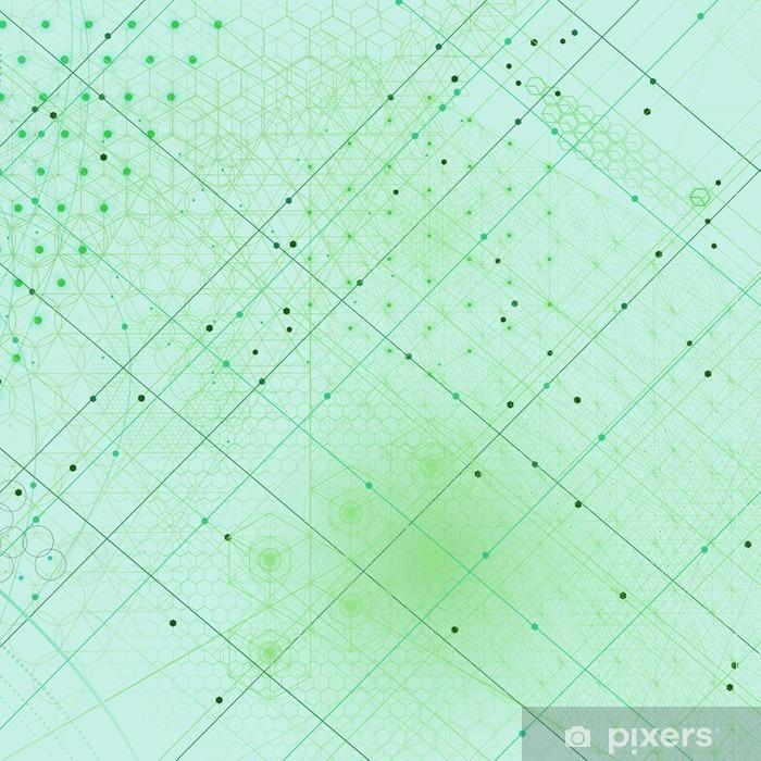 Vinilo para Nevera Símbolos y elementos de geometría sagrada fondo - Recursos gráficos