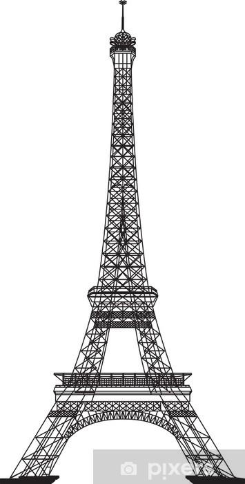 Adesivo Pixerstick Eiffel tower - Europa