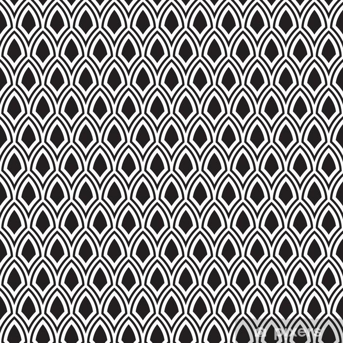 Sticker Pixerstick Seamless noir et blanc abstrait Art Déco Vector Motif - Ressources graphiques