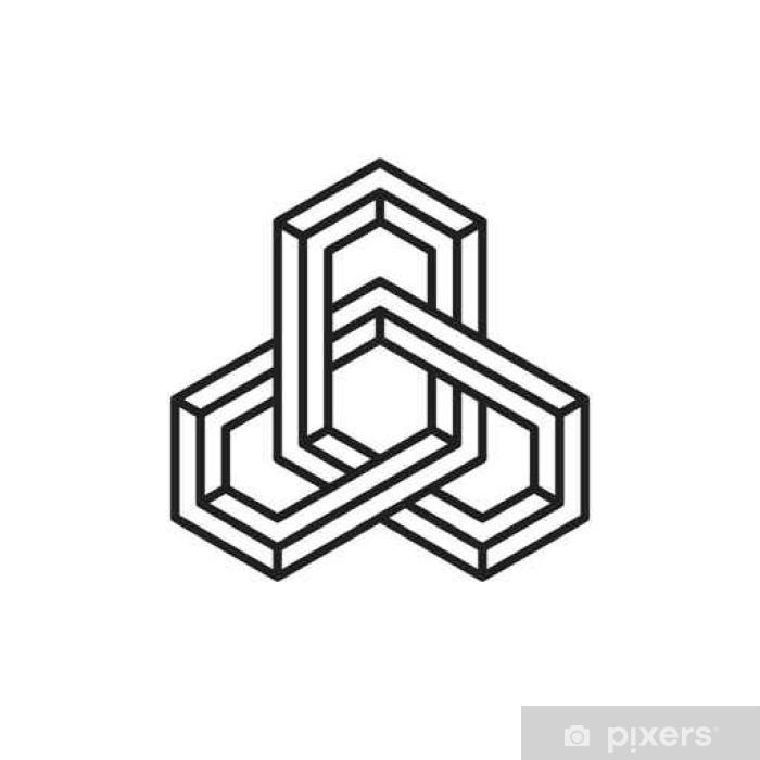 Carta Da Parati Elemento Geometrico Illusione Ottica Illustrazione