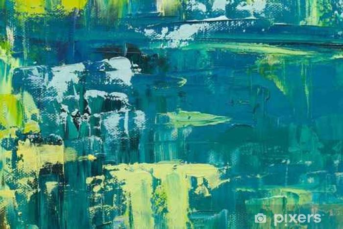 Fototapeta winylowa Abstrakcyjne tło sztuki. Obraz olejny na płótnie. Tekstura koloru - Zasoby graficzne
