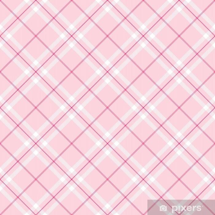 Light Pink Plaid Pixerstick Sticker - Toddler