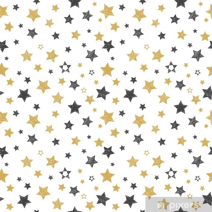 Plakat Wzór z ręcznie rysowane gwiazd. stylowy tło - Środowisko