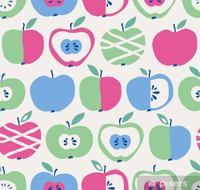 Naklejka Pixerstick Szwu z jabłkami - Jedzenie