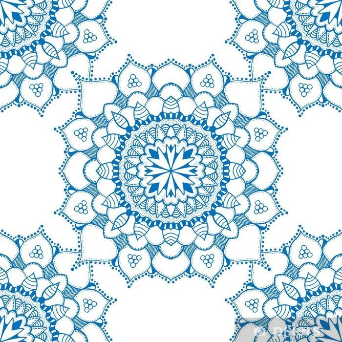 Fotomural Autoadhesivo Patrón floral sin fisuras - Recursos gráficos