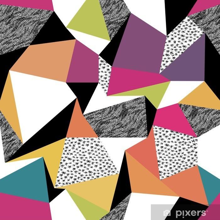 Pixerstick Aufkleber Geometrische nahtlose Muster im Retro-Stil. Vintage-Hintergrund. C - Criteo