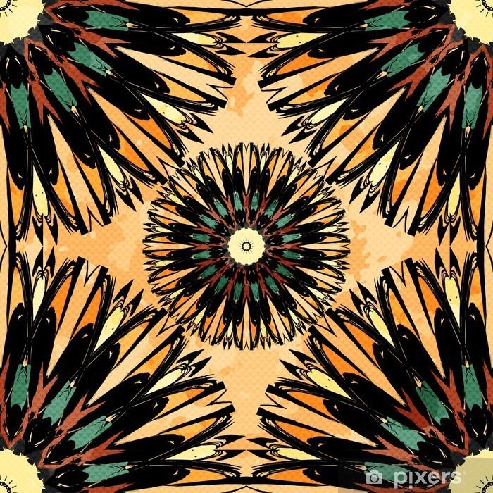Plakat Oriental Barwna ozdoba szwu wzór Vector - Zasoby graficzne