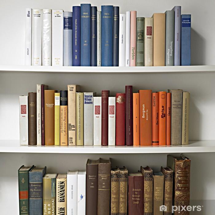 vinyl fotobehang boekenkast 01 bibliotheek