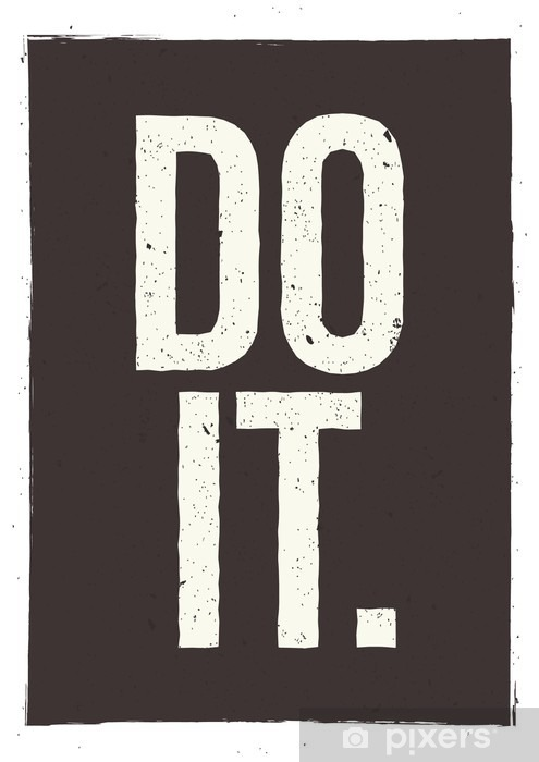 Vinil Duvar Resmi DO IT - motivasyon ifade. Sıradışı ilham afiş tasarımı - Grafik kaynakları