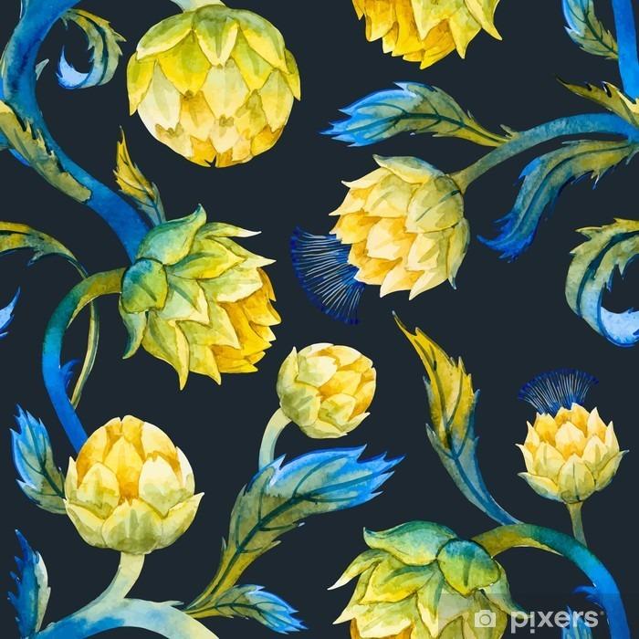 Poster Art Aquarelle motif nouveau d'artichaut - Plantes et fleurs
