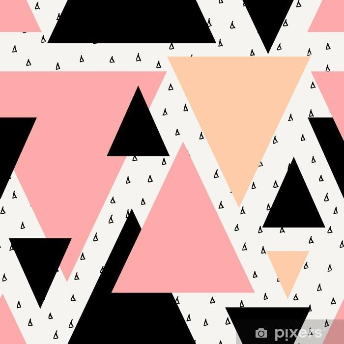 Nálepka na skříň Abstraktní geometrické bezešvé vzor. -