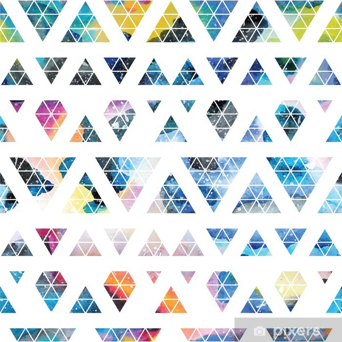 Sticker Pixerstick Galaxie tribal seamless. - Abstrait