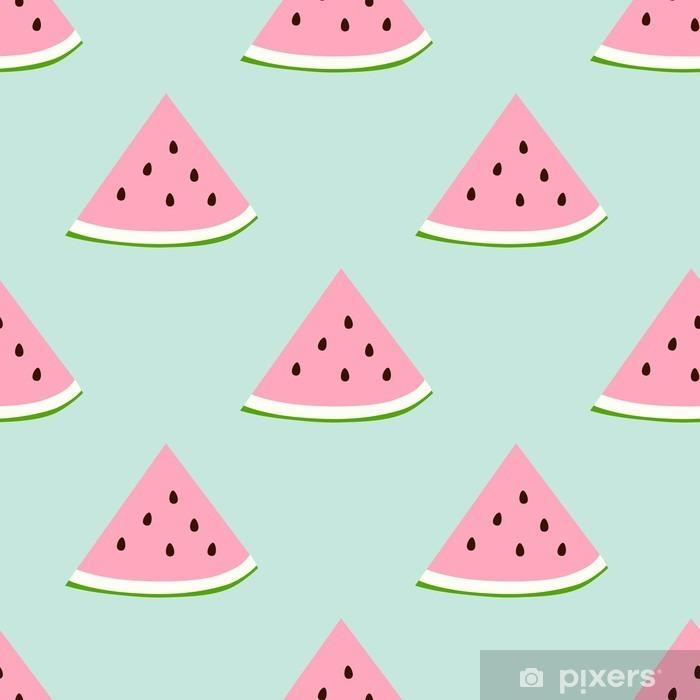 Fototapeta winylowa Watermelon szwu z kolory retro - Jedzenie