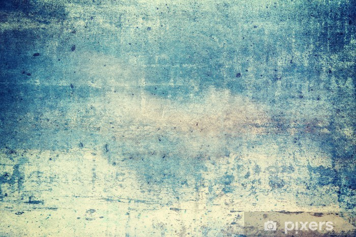 Horizontally oriented blue colored grunge background Vinyl Wall Mural - Graphic Resources