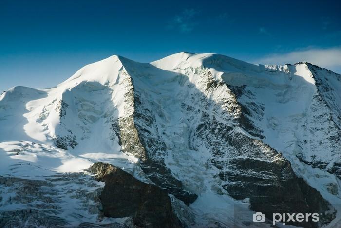 Fototapet av Vinyl Piz Palü bergstopp, beskåda från Diavolezza, Schweiz. - Berg