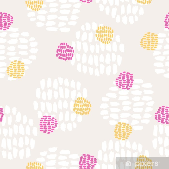 Zelfklevend Fotobehang Naadloze hand getekende patroon - Grafische Bronnen