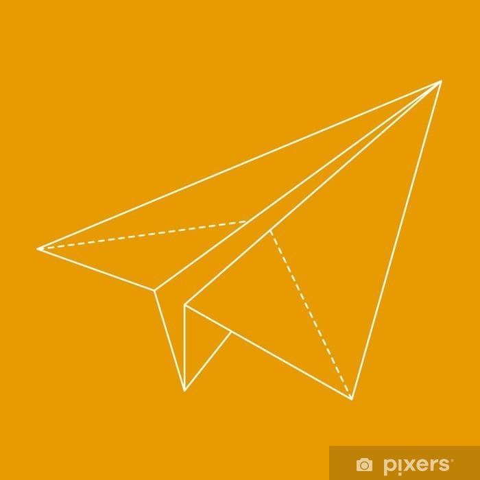 Sticker Pixerstick Plan Origami. Vector illustration - Transports