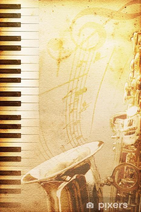 Papier peint vinyle Papier de vieux jazz - Musique