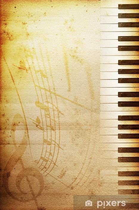 Papier peint vinyle Papier vieux piano - Piano à queue