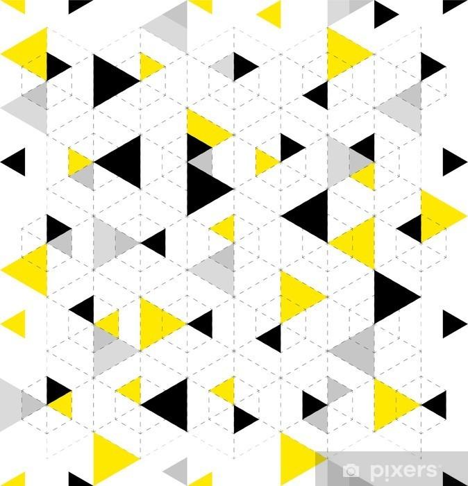 Autocolante para Roupeiro Fundo padrão geométrico - Recursos Gráficos