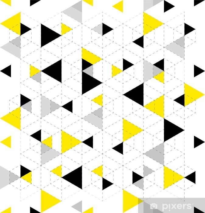 Geometric Pattern Background Vinyl Wall Mural - Graphic Resources