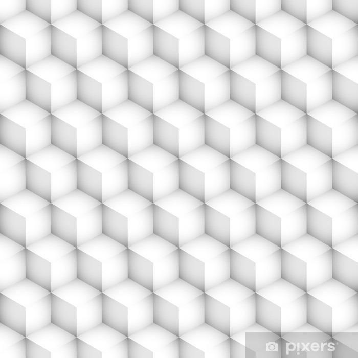 sześciany 3d bezszwowe tło wektor Pixerstick Sticker - Graphic Resources