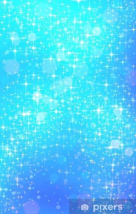Glitzer Blau Sticker Pixerstick