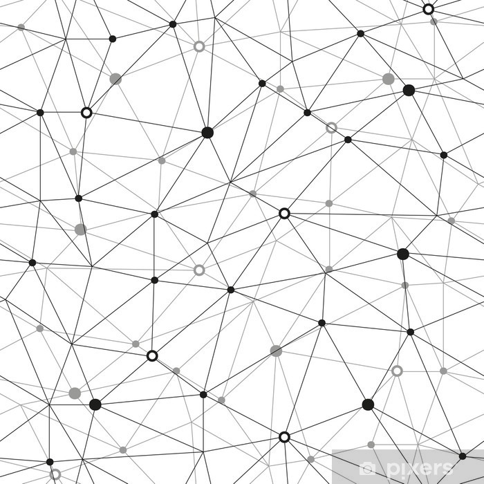 Naklejka Pixerstick Sieć bezszwowe tlo Wektor - Zasoby graficzne