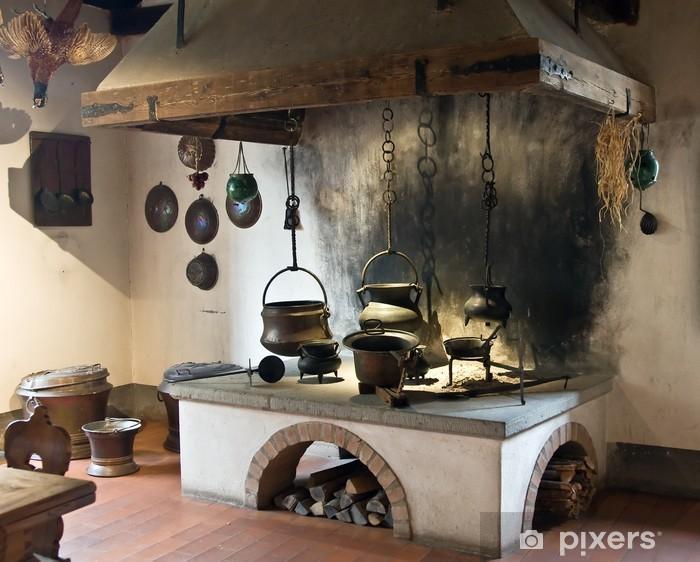 Carta da Parati in Vinile Cucina Antica