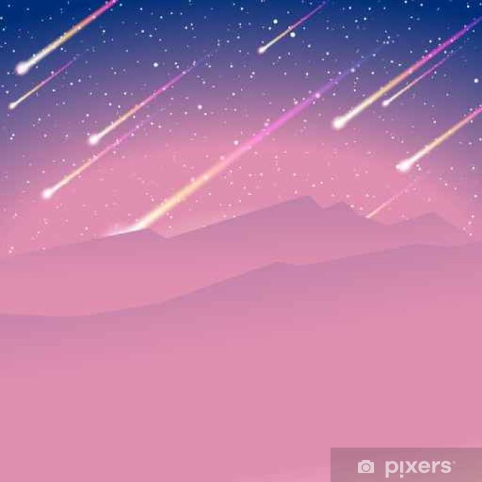 Fototapet av vinyl Meteor dusj bakgrunn - Lanskap