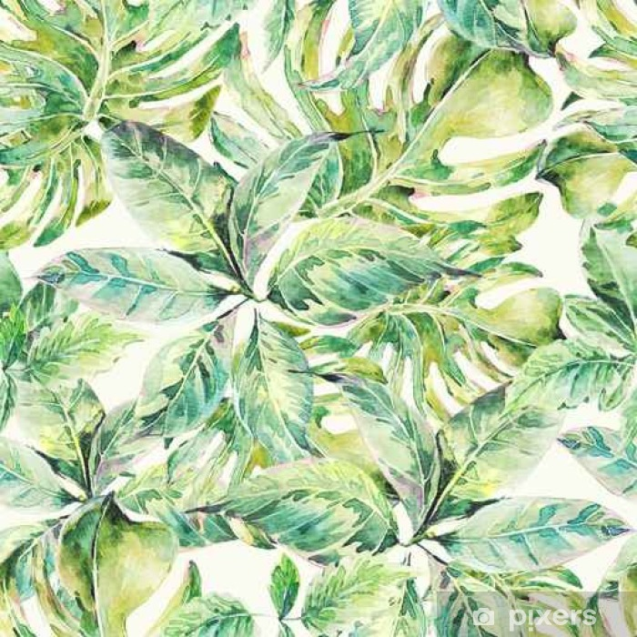Summer exotic watercolor seamless pattern Vinyl Wall Mural - Hobbies and Leisure