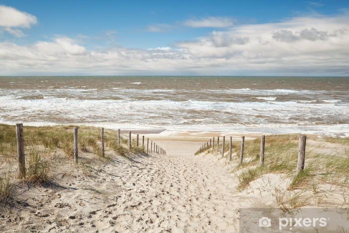 Fototapete Sand Weg Zum Meer Strand Im Sonnigen Tag Pixers Wir Leben Um Zu Verandern