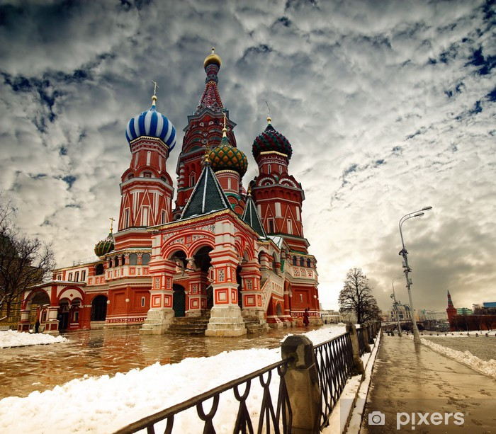 Naklejka Pixerstick Moskwa Bazyli Cathedral - Moskwa