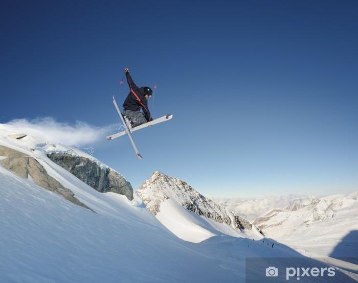 Nálepka Pixerstick Skok na lyžích - Lyžování