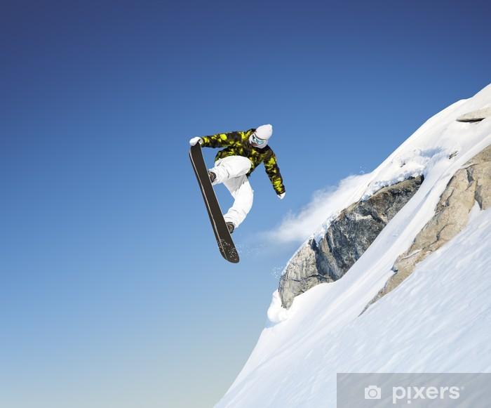 Plakat Skok snowboard - Sporty indywidualne