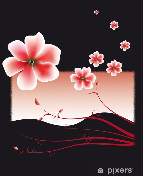 Fototapeta winylowa Cerisier - Kwiaty