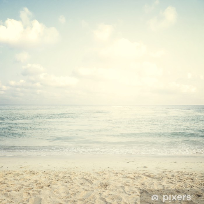 Vintage tropical beach in summer Framed Poster - Landscapes