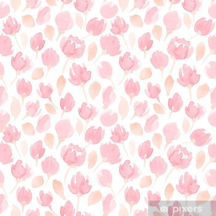 Zelfklevend Fotobehang Schattige waterverfbloemen naadloze vector patroon. bloemenpatroon voor uw ontwerp - Grafische Bronnen
