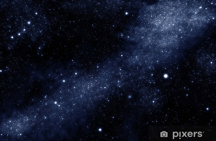Naklejka Pixerstick Droga mleczna - Wszechświat