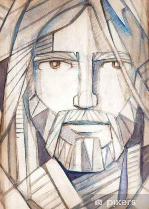 Pixerstick Sticker Jezus Christus Gezicht - Religie en Cultuur