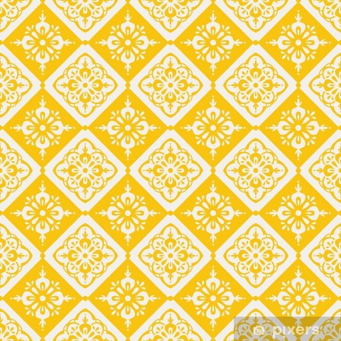 Koelkaststicker Naadloze vintage patroon - Grafische Bronnen