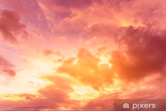 Afwasbaar Fotobehang Heldere zonsondergang hemelachtergrond - Landschappen