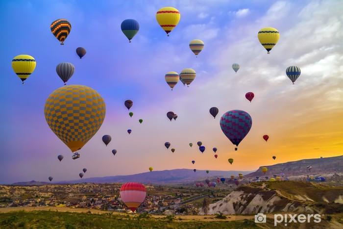 Hot Air Balloons In The Mountain Vinyl Wall Mural - Air