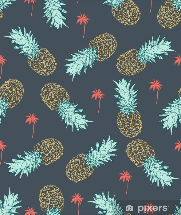 Papier peint Ananas seamless • Pixers®   Nous vivons pour changer