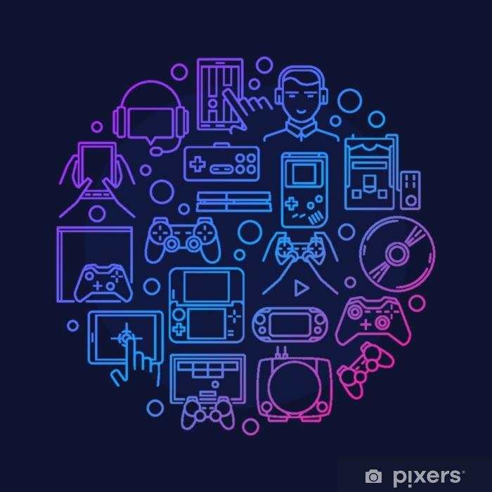 Naklejka Pixerstick Projektowanie gier wideo - Zasoby graficzne