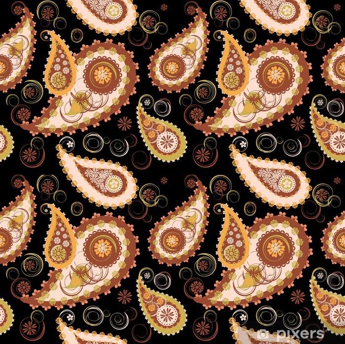 Sticker Pixerstick Fond paisley - Textures