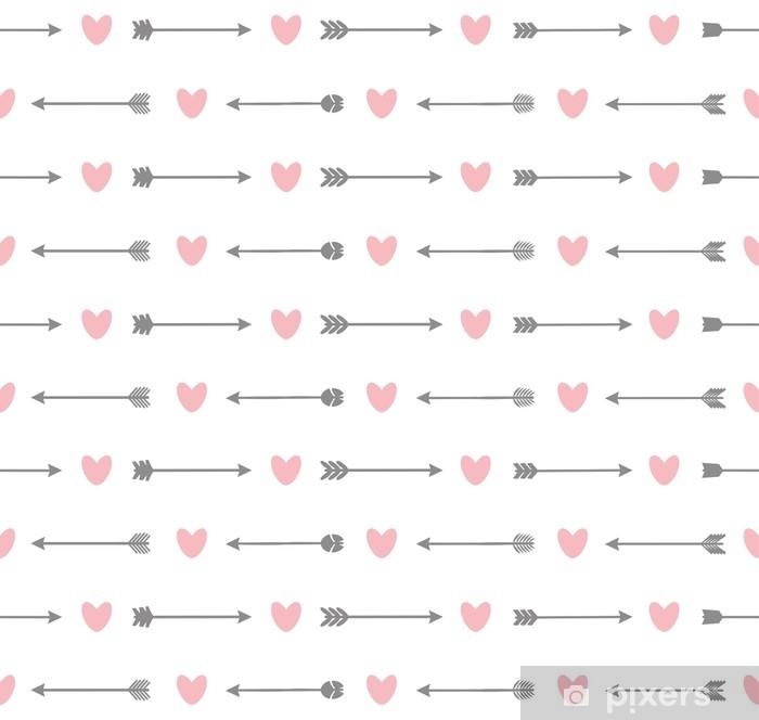 Naklejka na drzwi Wzór ze strzałkami i serca - Zasoby graficzne