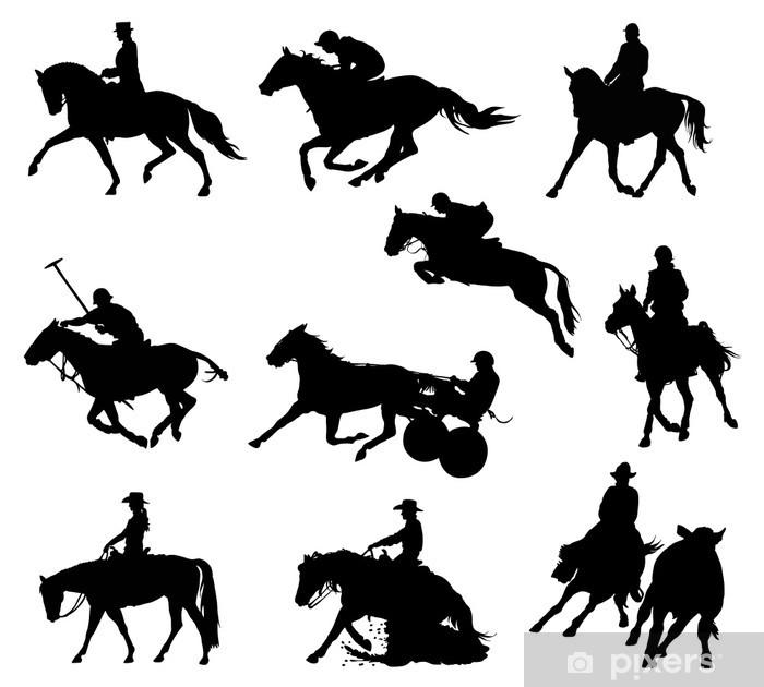 Nálepka Pixerstick Jezdecký sport, - Individuální sporty